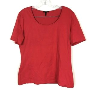 Escada Short Sleeve T-Shirt Top Red Solid